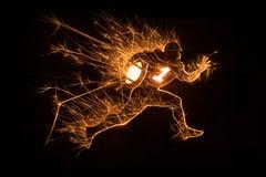 Corredor Sparkly do jogador de futebol americano Fotografia de Stock Royalty Free