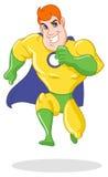 Corredor super do herói ilustração stock