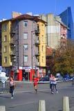 Corredores céntricos del bulevar de Sofia Marathon Fotografía de archivo libre de regalías