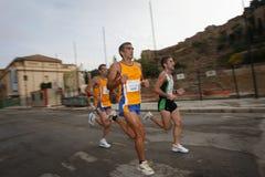 Corredores da cidade da raça urbana 2007 de Malaga Foto de Stock