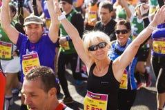 Corredores da meia maratona de Roma-Ostia Fotografia de Stock