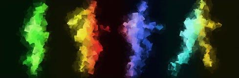 Corredores de arco iris stock de ilustración