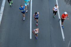 Corredores de la calle en el 29no maratón de Belgrado Fotografía de archivo libre de regalías