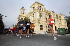Corredores de la ciudad de la raza urbana 2007 de Málaga Foto de archivo libre de regalías