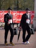 Corredores de la diversión en el maratón el 25 de abril de 2010 de Londres Fotos de archivo libres de regalías