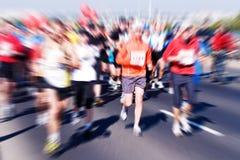 Corredores de maratón Imágenes de archivo libres de regalías