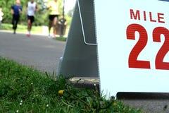 Corredores de maratón Fotos de archivo libres de regalías