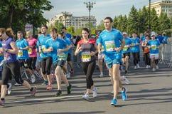 Corredores de maratón Foto de archivo libre de regalías