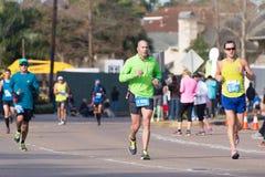 Corredores 2015 de maratón de Houston Foto de archivo libre de regalías