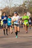 Corredores 2015 de maratón de Houston Imágenes de archivo libres de regalías