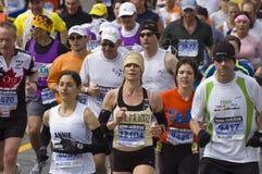 Corredores de maratón de Boston Foto de archivo libre de regalías