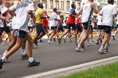 Corredores de maratona Foto de Stock