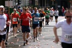 Corredores de maratona Imagem de Stock