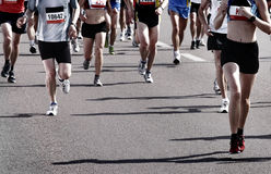 Corredores de maratona fotos de stock