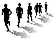 Corredores de maratona Fotografia de Stock