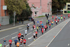 Corredores de maratona de Moscou Fotografia de Stock
