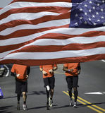 Corredores de maratona deficientes Foto de Stock