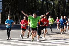 Corredores del maratón Imagenes de archivo