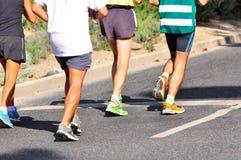 Corredores del maratón Fotos de archivo libres de regalías