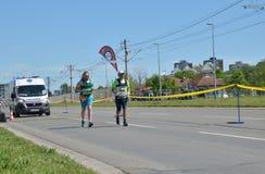 Corredores durante maratón Fotografía de archivo libre de regalías