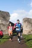 Corredores durante a maratona do esmagamento, Roma, Itália Imagens de Stock