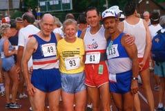 Corredores en las Olimpiadas mayores Foto de archivo libre de regalías