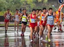 Corredores en un maratón Imagen de archivo libre de regalías