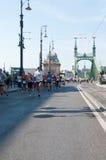 Corredores na meia maratona de Budapest Imagens de Stock Royalty Free