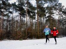 Corredores no wintertime Imagens de Stock