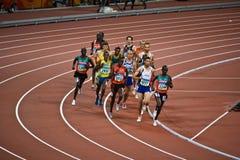Corredores olímpicos Imágenes de archivo libres de regalías