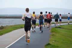 Corredores, triathlon foto de stock royalty free