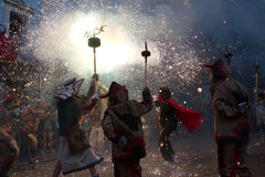 Correfoc Infantil Royalty Free Stock Photography
