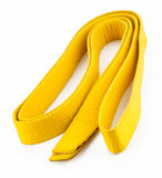 Correia amarela nas artes marciais imagens de stock royalty free