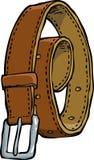 Correia de couro da garatuja ilustração stock