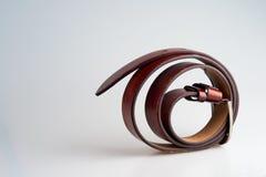 Correia de couro de Brown Foto de Stock