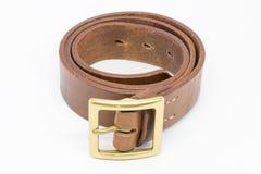 Correia de couro de Brown para homens Fotografia de Stock