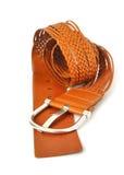 Correia de couro de Wattled com curvatura do metal Foto de Stock Royalty Free