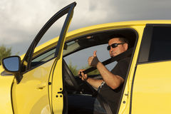 Correia de segurança do carro Imagens de Stock