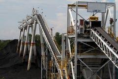 Correia transportadora de carvão Fotos de Stock