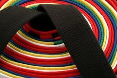 Correias das artes marciais - redondas Imagens de Stock Royalty Free