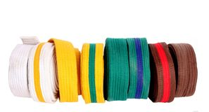 Correias de Taekwondo Fotos de Stock