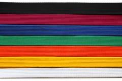 Correias de Taekwondo fotografia de stock royalty free