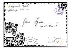Correio de África Ilustração Royalty Free