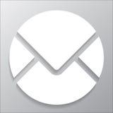 Correio do círculo do ícone Imagem de Stock