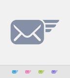 Correio do voo - ícones do granito ilustração royalty free