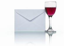 Correio e vinho Imagens de Stock Royalty Free