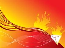 Correio encarnado do incêndio Imagem de Stock