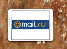 correio Logotipo da empresa do Internet do Ru Imagem de Stock Royalty Free