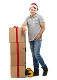 Correio - pacote do Natal, caixas de presente Fotos de Stock