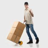 Correio - pacotes de um carrinho de mão Imagem de Stock Royalty Free